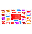 multi colored ribbons for poster greeting card vector image