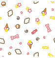 multicolored candy ice cream cake star and vector image vector image