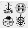 Nautical Monochrome Logos vector image