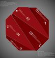 Octagon randomly cut to five parts on dark vector image vector image