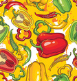 Pepper pattern background vector image vector image