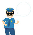 policeman in uniform and goggles isolated on vector image