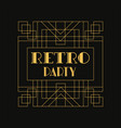 retro party logo vintage luxury minimal geometric vector image vector image