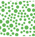 seamless green dot pattern hand painted circles vector image vector image