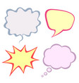 set colorful speech bubbles isolated on white vector image