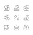 set line icons cleaning vector image