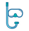 snorkel diving isolated icon vector image vector image
