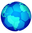 Soccerball globe vector image vector image