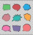 speech bubbles set halftone shadows vector image