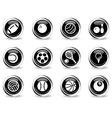 Sport balls simply symbol vector image vector image
