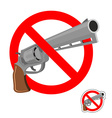Stop gun Prohibited entry of weapons Colt crossed vector image vector image