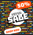 super sale abstract banner retro style vector image vector image
