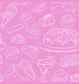 sweets seamless vector image