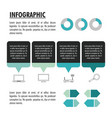 technology infographic with statistics design vector image