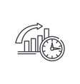 to be on time line icon concept to be on time vector image vector image