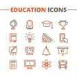 trendy school icons set Minimalistic line vector image