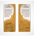 Vetical retro coffe set banners vector image