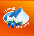 washing clothes sticker alpine freshness symbol vector image vector image