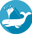 Whale Icon vector image vector image