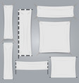 white textile banners and flag isolated vector image