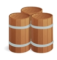 Wooden barrel isolated vector image vector image