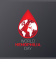 world hemophilia day logo icon design vector image vector image