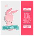 Baby shower invitation bunny girl vector image