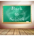 Chalkboard with Back to School text EPS10 vector image