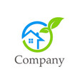 house ecology environment company logo vector image