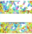 design geometrical background vector image