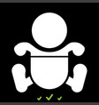 toddler boy with diapers it is white icon vector image