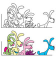 a gang of rabbits on journey vector image