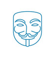 anonymous user linear icon concept anonymous user vector image vector image
