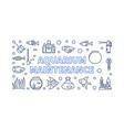 aquarium maintenance horizontal banner or vector image vector image