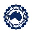 australia blue vector image vector image