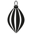 black and white xmas tree decoration silhouette vector image