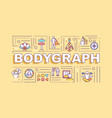 bodygraph word concepts banner vector image