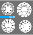 clock face blank set isolated on transparent vector image