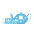 coffee set or tea set vector image