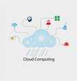 computer cloud numbers vector image vector image