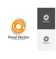 creative food logo design restaurant food court vector image vector image