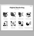 data analytics icons solid pack vector image vector image