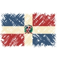 Dominican Republic grunge flag vector image