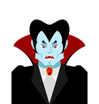 Dracula vampire lord portrait Horrible ferocious vector image