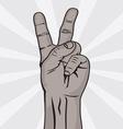 Dva prsta crni prsti resize vector image vector image