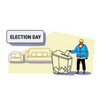 election day concept construction worker in vector image vector image