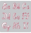 English hand-written alphabet vector image