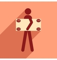 Flat with shadow icon People and dollar vector image vector image