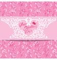 flowers pink card 2 380 vector image vector image
