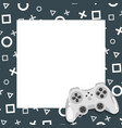 gaming video and photo frame vector image